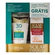 Kit Protetor Solar Corporal Loreal Expertise FPS30 120ml + Antirrugas Facial FPS30 25g