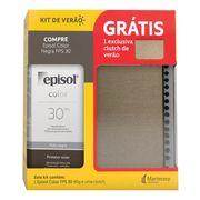 Kit Protetor Solar Corporal Episol Color Negra FPS30 40g + Cluch de Verão