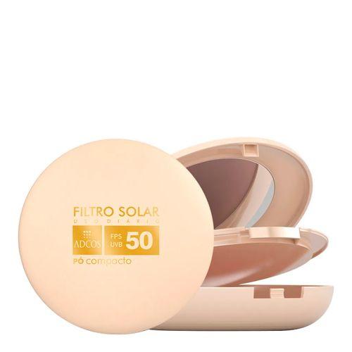 Filtro Solar Tonalizante Adcos Pó Compacto Nude FPS 50 11g