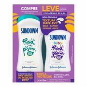 Kit Protetor Solar Sundown Praia e Piscina FSP50 200ml + Sundown Kids FPS60 120ml