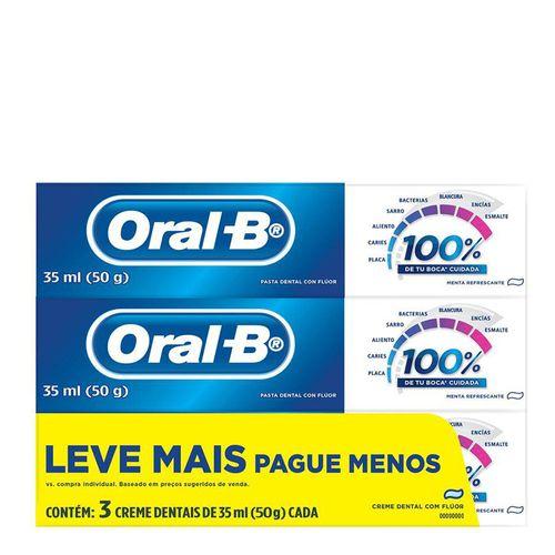 Kit-Creme-Dental-Oral-B-com-Fluor-Menta-Refrescante-50g-3-Unidades-Drogaria-SP-722332-1