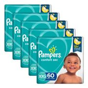 Kit-Fralda-Pampers-Confort-Sec-Tamanho-XXG-60-Unidades-5-Pacotes-Drogaria-SP-935128083