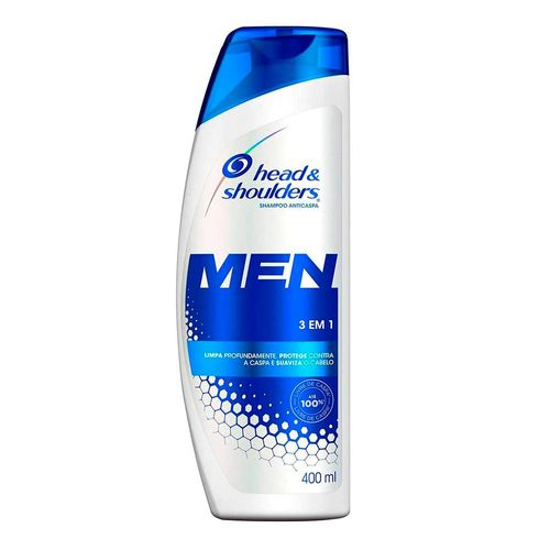 Shampoo De Cuidados Com A Raíz Head & Shoulders Men 3 Em 1 400ml