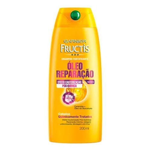 Shampoo Fructis Óleo Reparador Pós Química 200ml