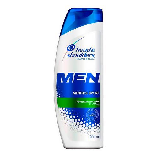 Shampoo Head & Shoulders Menthol Refrescante Masculino 200ml