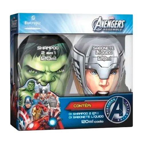 Shampoo 2 Em 1 Hulk 120ml + Sabonete Líquido Thor 120ml