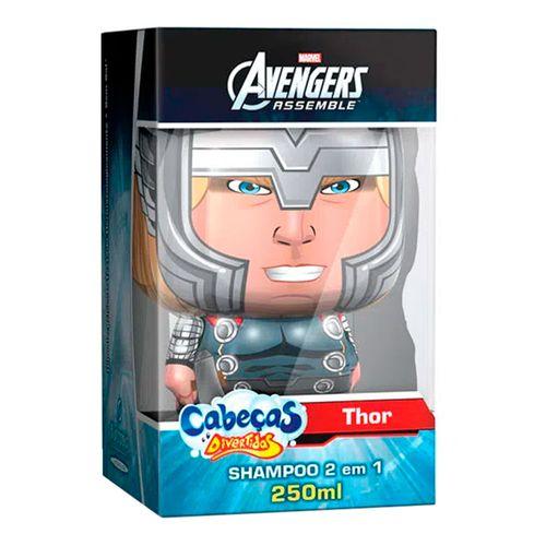 Shampoo 2 Em 1 Cabeças Divertidas Avengers Thor 250ml