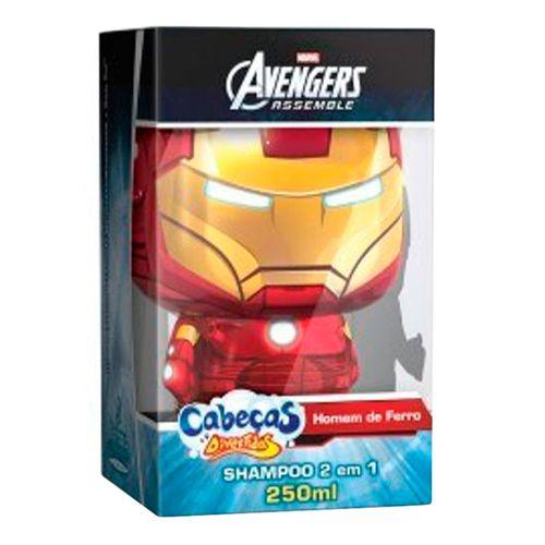 Shampoo 2 Em 1 Cabeças Divertidas Avengers Homem De Ferro 250ml