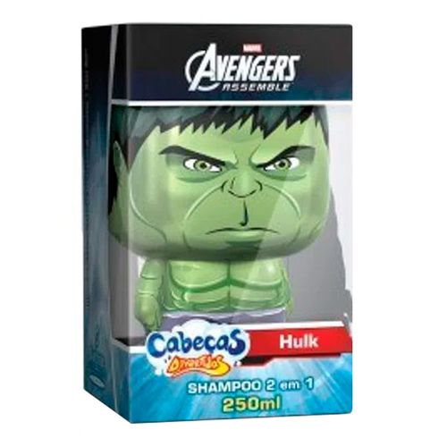 Shampoo 2 Em 1 Cabeças Divertidas Avengers Hulk 250ml