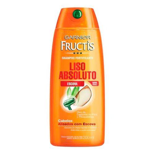 Shampoo Fructis Liso Absoluto Escova 200ml