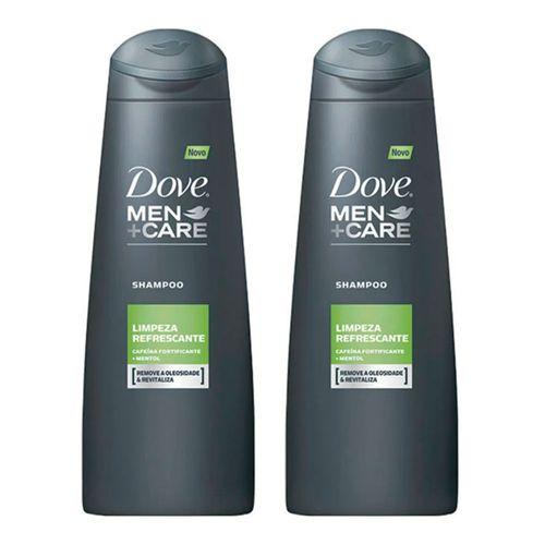 Shampoo Dove Men Limpeza Refrescante 200ml C/ 2 Unidades