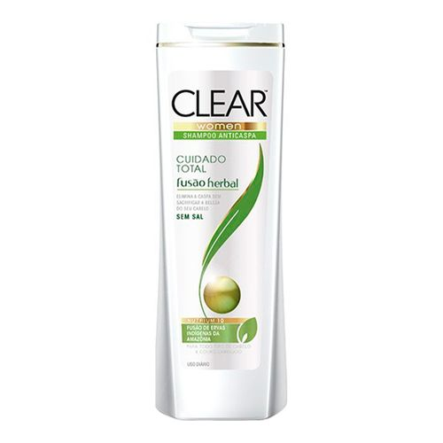 Shampoo Clear Women Fusão Herbal Cuidado Total Feminino 400ml
