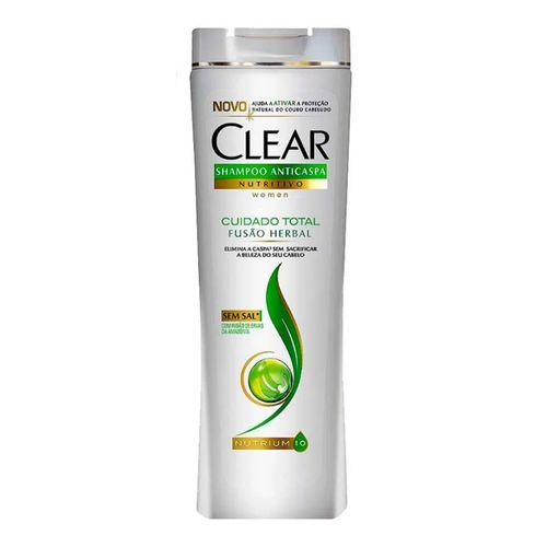 Shampoo Clear Women Fusão Herbal Cuidado Total Feminino 200ml