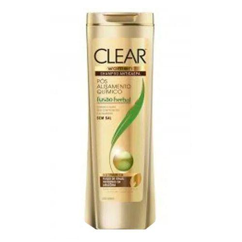Shampoo Clear Women Fusão Herbal Pós-alisamento Químico Feminino 400ml