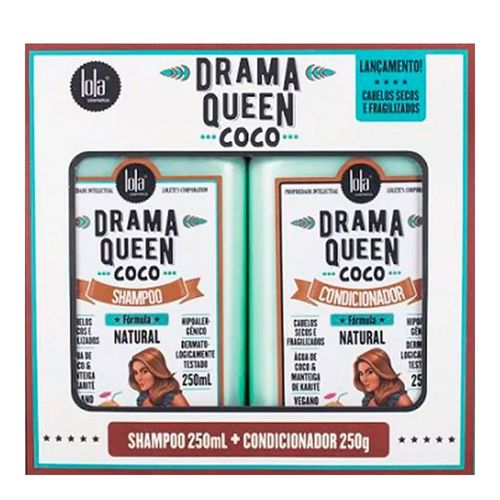 Kit Lola Cosmetics Drama Queen Coco Shampoo 250ml + Condicionador 250g
