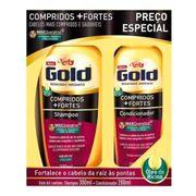 Kit Niely Gold Compridos Mais Fortes Shampoo 300ml + Condicionador 200ml