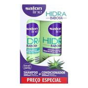 Kit Salon Line Shampoo 300ml + Condicionador Hidra Babosa 300ml
