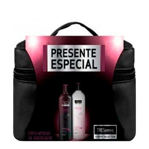 Kit Tresemmé - Shampoo 400ml + Condicionador 400ml Blindagem Platinum + Frasqueira