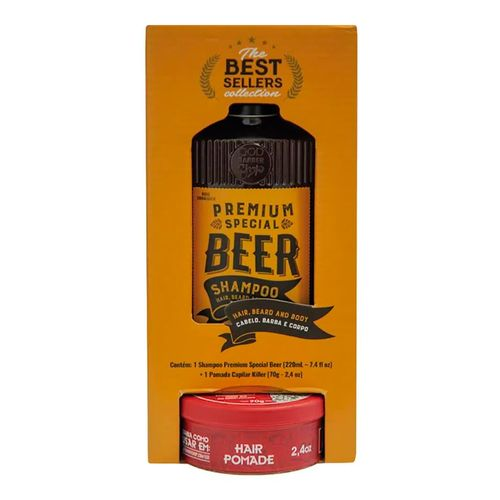 Kit QOD Barber Shop Shampoo Premium Special Beer 220ml + Pomada Capilar 70g