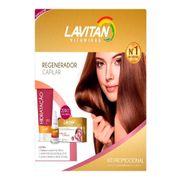 Kit Lavitan Hair 30 Cápsulas + Shampoo 200ml + Solução Regeneradora 50ml