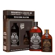 Kit QOD Barber Shop Old School Whiskey Shampoo 290ml + Leave-In 145ml