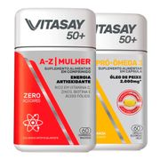 Kit-Vitasay-Multivitaminico-50--A-Z-Mulher-60-Comprimidos---Pro-Omega-3-60-Capsulas-Drogaria-SP-935128236
