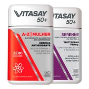 Kit-Vitasay-Multivitaminico-50--A-Z-Mulher-60-Comprimidos---Serenne-50---60-Capsulas-Drogaria-SP-935128238