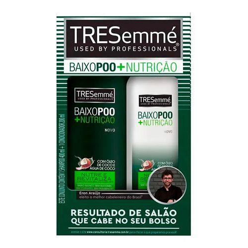 Kit Tresemmé Baixo Poo Shampoo 400ml + Condicionador 200ml