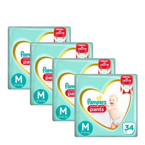 935128270---Kit-Fralda-Pampers-Pants-Premium-Care-M-34-unidades-4-Pacotes
