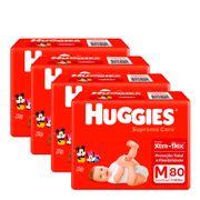 935128256---Kit-Fralda-Huggies-Supreme-Care-M-80-Unidades-4-Pacotes