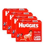 935137949---Kit-Fralda-Huggies-Supreme-Care-G-64-Unidades-4-Pacotes
