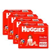 935128255---Kit-Fralda-Huggies-Supreme-Care-XG-52-Unidades-4-Pacotes