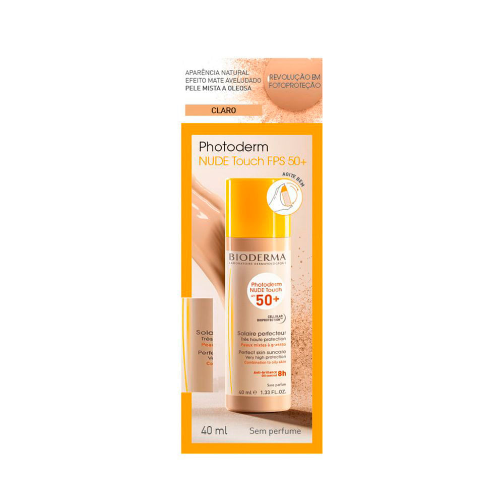 Bioderma Photoderm Nude Touch Fps50+ Claro - Protetor