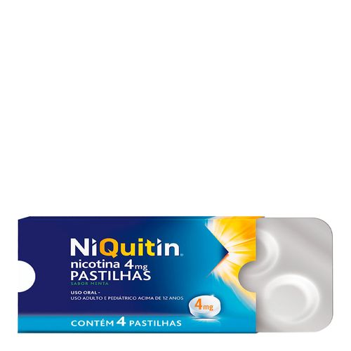 Niquitin 4mg Menta 4 Pastilhas