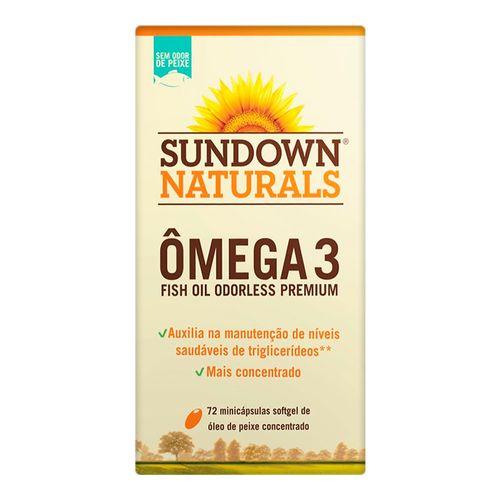 Ômega 3 Fish Oil Sundown Sem Cheiro 72 Cápsulas 1290mg