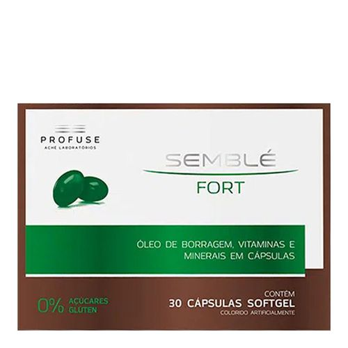 Suplemento Vitamínico Semble Fort Profuse 30 Cápsulas Softgel