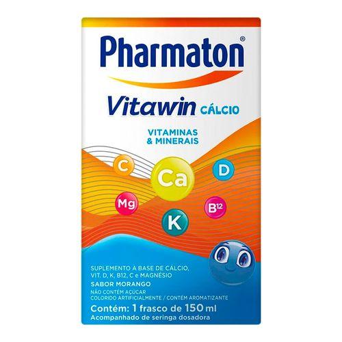 Pharmaton Vitawin Cálcio Sanofi Aventis Infantil Morango 150ml