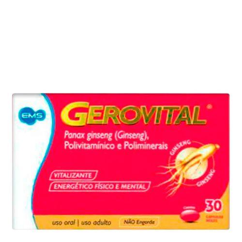 Polivitamínico Gerovital 30 Cápsulas
