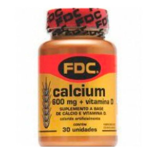 Suplemento Vitamínico Calcium 600mg+D FDC 30 Tabletes