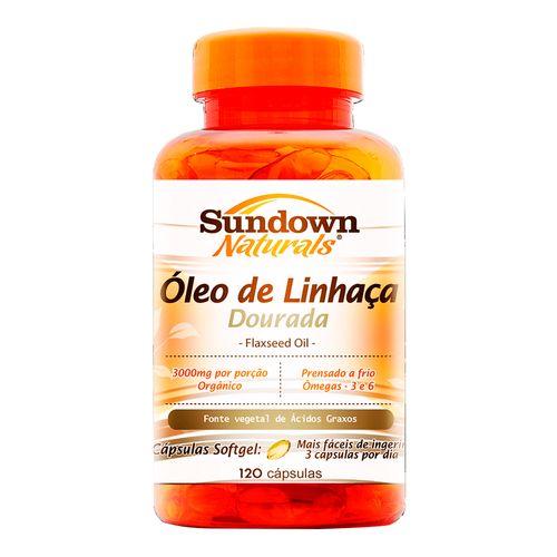 Ácido Graxo Sundown Naturals Óleo de Linhaça Dourada 120 Cápsulas