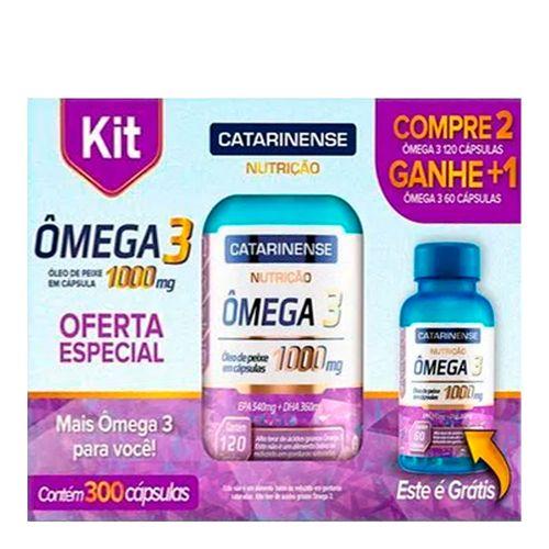 Kit-Omega-3-1000mg-Catarinense-300-Capsulas