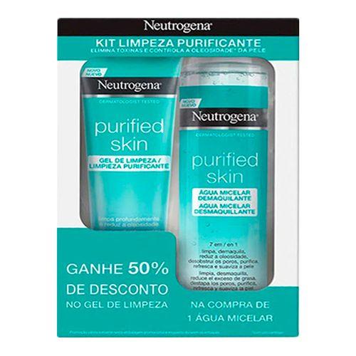 Kit-Agua-Micelar-Neutrogena-Purified-Skin-200ml-Mais-Gel-De-Limpeza-Facial-80g