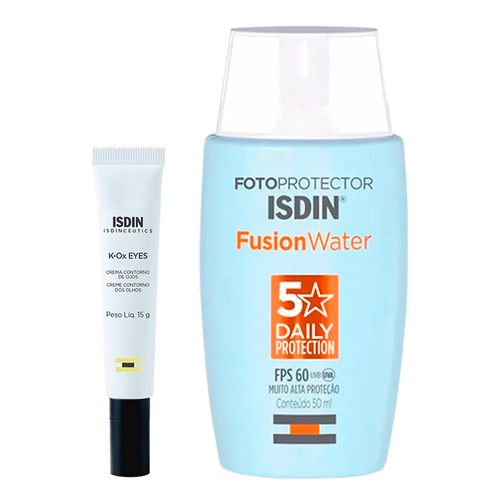 935128659---Kit-Isdin-Protetor-Solar-Facial-Fusion-Water-Oil-Control-FPS60-50ml--Creme-Contorno-Dos-Olhos-K-Ox-Eyes-15g
